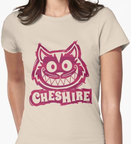 Cheshire Originals - Raspberry Stripe Scribble Womens Fitted T-Shirt