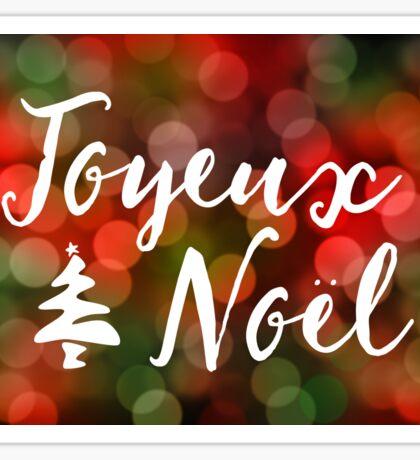 Joyeux Noël bokeh lights Sticker