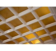 Ceiling Grid Photographic Print