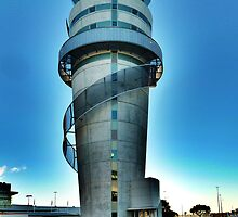 Christchurch Airport's Control Tower by PictureNZ