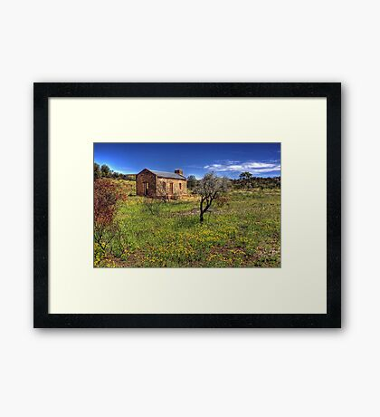 Gold Town Framed Print