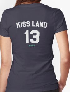 Kiss Land WHITE Womens Fitted T-Shirt