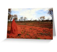 Red Earth Greeting Card