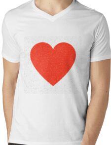 Heart Mosaic Triangles Mens V-Neck T-Shirt