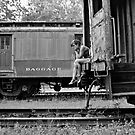 Self Portrait- Abandoned Train Yard by MJD Photography  Portraits and Abandoned Ruins