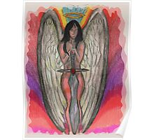 Guardian Angel With Big Sword Poster