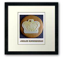 Jubilee Gingerbread Framed Print