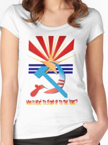 Doing A Soviet On Arizona Women's Fitted Scoop T-Shirt