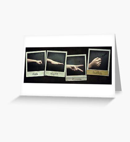 Almost Rock, Paper, Scissors Greeting Card