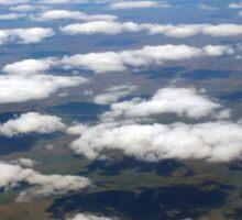 Plane Clouds Sticker