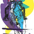 Horse jumping in colour by Go van Kampen