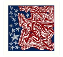 Abstract American Flag Art Print