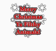 MERRY CHRISTMAS YA FILTHY ANIMALS! Women's Fitted Scoop T-Shirt