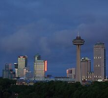 Niagara skyline at Dusk by playfulkit
