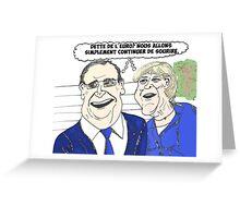 News options binaires en BD avec Merkel et Hollande sourient Greeting Card