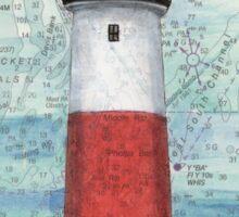 Sankaty Head Lighthouse MA Nautical Chart Peek Sticker