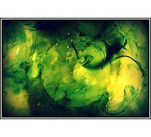 Green swirls of water Photographic Print