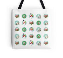 Vintage Holiday Dots Tote Bag