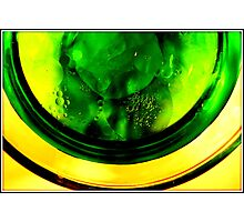 Green circles and bubbles Photographic Print