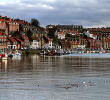 Whitby Harbour by Christine Smith