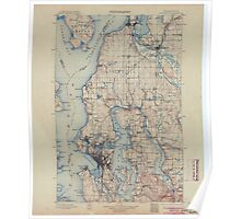 USGS Topo Map Washington State WA Seattle 243634 1897 125000 Poster