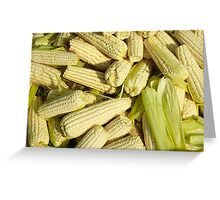 Lots of little corns - at the market Greeting Card
