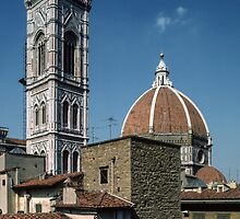 View from our hotel room of the Duomo Firenze Italy 198407070002  by Fred Mitchell