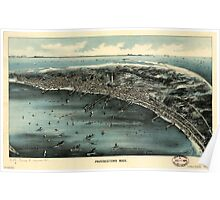 Panoramic Maps Provincetown Mass Poster