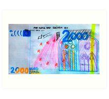 €2000 note  Art Print