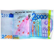 €2000 note  Poster