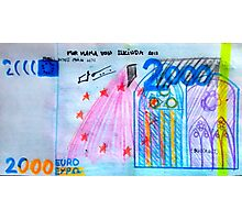 €2000 note  Photographic Print