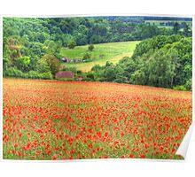 Poppy Fields Oxfordshire Poster