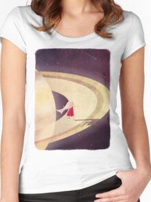 Saturn Child Women's Fitted Scoop T-Shirt