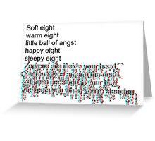 Soft Zagreus [black] Greeting Card