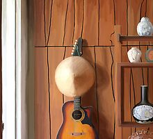 Guitar on Wall by Orfenn17