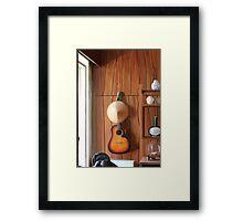 Guitar on Wall Framed Print