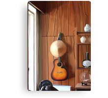 Guitar on Wall Canvas Print