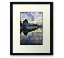 Forbidden City Sunset Framed Print
