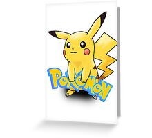Pikachu Pokemon Greeting Card