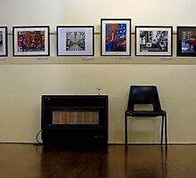 Chair, heater, pictures. by geof