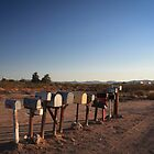 Letter boxes in the Arizona Desert by DavidONeill