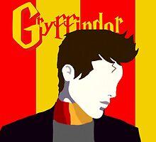 Harry Potter Gryffindor Minimalist Print by katiewisegirl