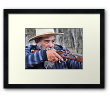 Tony The Muzzle Loader - Hill End NSW Australia Framed Print