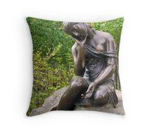 Statue in the park Tsarskoye Selo, Russia  Throw Pillow