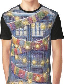 Doctor Who Christmas Tardis  Graphic T-Shirt