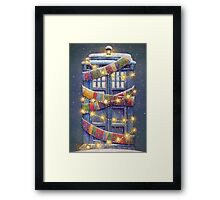 Doctor Who Christmas Tardis  Framed Print