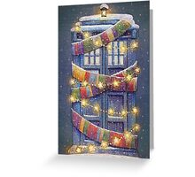 Doctor Who Christmas Tardis  Greeting Card
