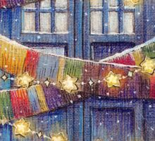 Doctor Who Christmas Tardis  Sticker