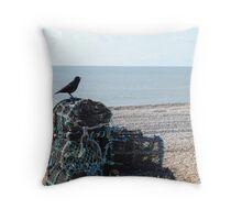 Beach Bird - Seaford UK Throw Pillow