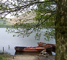 Boats on a lake in Cumbria by davidwatterson